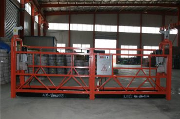 zlp1000 8 - 10 m / min säker suspenderad plattform för byggnad och underhåll