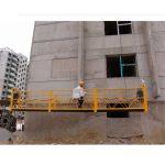 7,5 m skräddarsydda 800 kg upphängda plattformar för byggstädning, stift