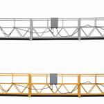 hot sales alumimum legering upphängd plattform / suspenderad gondol / suspenderad vagga / suspenderad sväng scen med form e