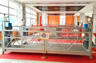zlp630 aluminiumhäftad plattform (ce iso gost) / högsteg fönsterreningsutrustning / tillfällig gondol / vagga / svängningsstadiet hett