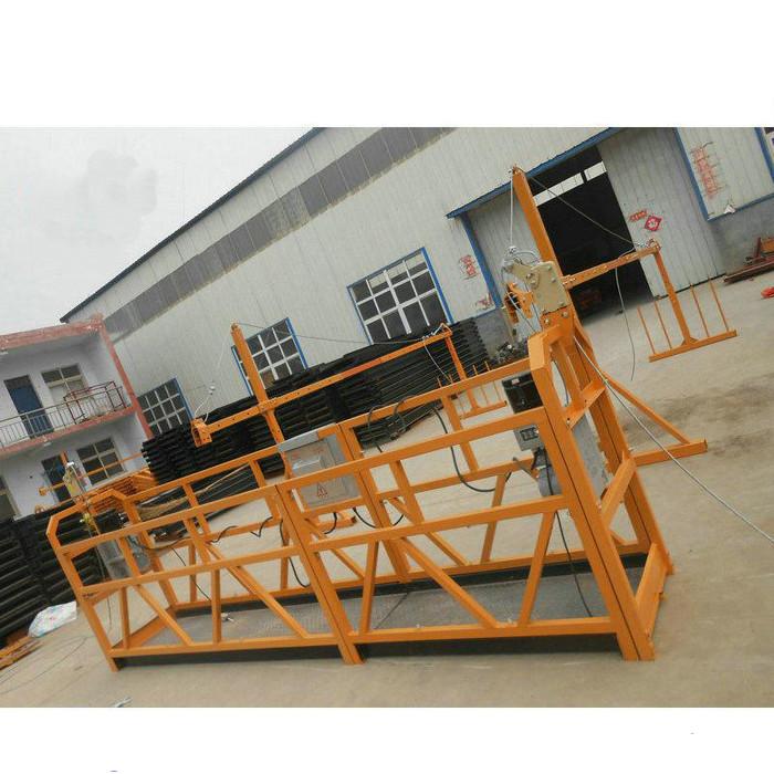 Pålitlig ZLP630 Målning Stålupphängd arbetsplattform för byggkonstruktion