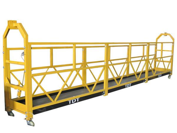 Stål Hot Galvaniserad Aluminium Alloy Rope Suspenderad Plattform 1.5KW 380V 50HZ
