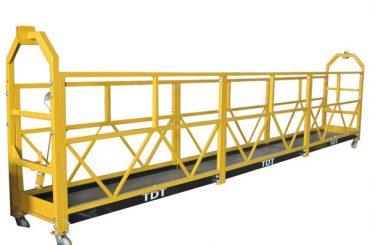stål / varmförzinkad / aluminiumlegering rep upphängd plattform 1.5kw 380v 50hz