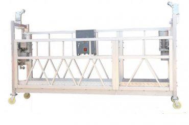 Stålmålad varmförzinkad aluminium ZLP630 upphängd arbetsplattform för att bygga fasadmålning
