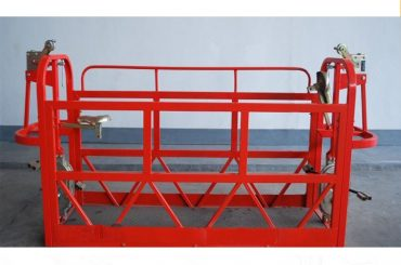800kg målade / aluminiumupphängda åtkomstplattformar motorkraft 1.8kw ställningsplattform