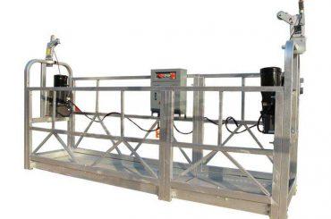 zlp-serie varmförzinkad / aluminiumhängande plattforms vagga för höghusbyggnad väggmålning, glasrengöring