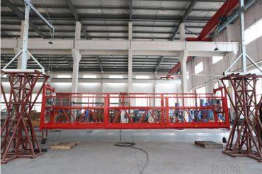 10 meter aluminiumsläge upphängd arbetsplattform med hiss ltd8.0